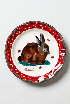 Anthropologie Rabbit Plate