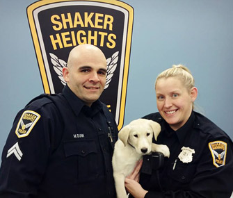 Ohio Police Officer Adopts Puppy