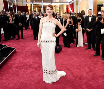 Julianne Moore on red carpet for Oscars