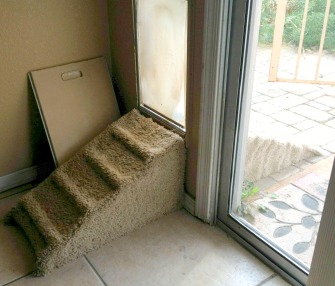 dog ramp to doggy door
