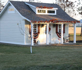 The presidential turkey flock stayed in this converted shed