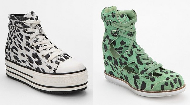 leopard high top shoes