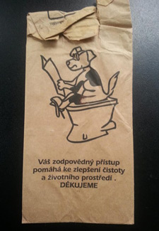 Czech poop bag