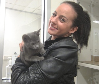 NYPD Officer Nicole Piridis has adopted Apollo, one of the kittens she rescued from a suitcase in Brooklyn.