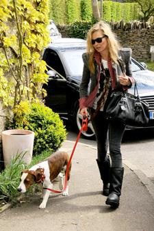 Kate Moss and Dog