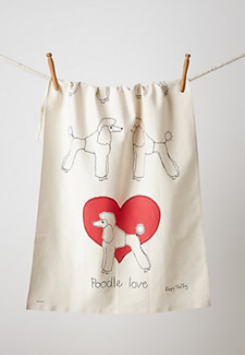 Poodle towel from Anthropologie