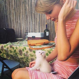 Taylor Swift and her cat Olivia Benson