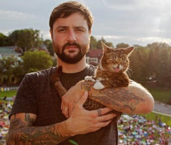 Lil' Bub and her owner appeared at the L.A. Film Festival over the weekend.