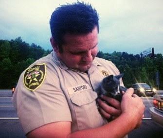 Deputy Sanford found little Atlanta in the engine compartment of a vehicle traveling in Alabama.