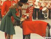Duchess Catherine with an Irish Wolfhound