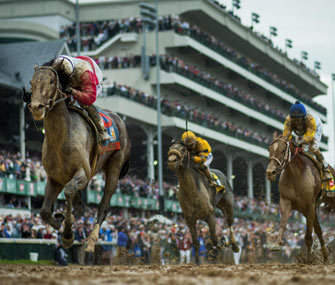 Horses compete in the 2013 Kentucky Derby