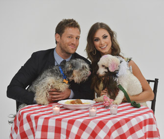 'Bachelor' contestants pose with shelter dogs