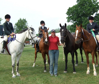 A riding lesson at Greenhaven Farms